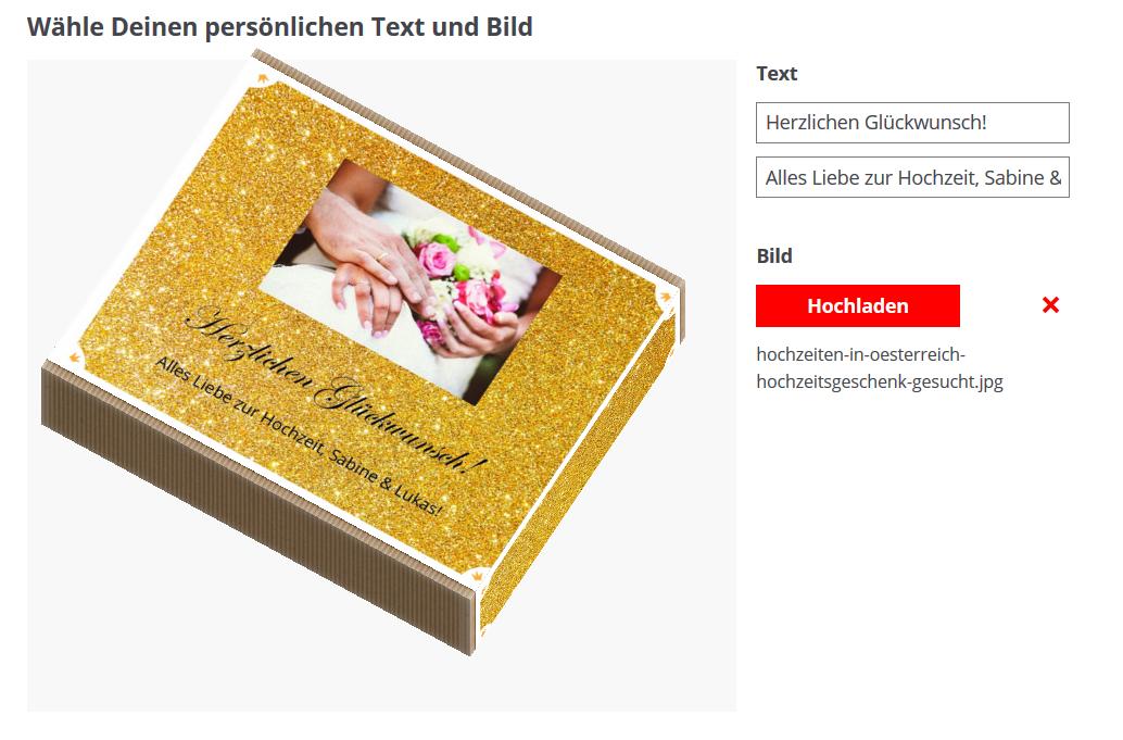 Hochzeitsgeschenk von Austriandl mit individueller Verpackung